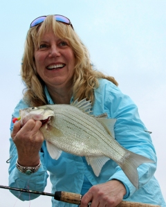 Susan with another white bass