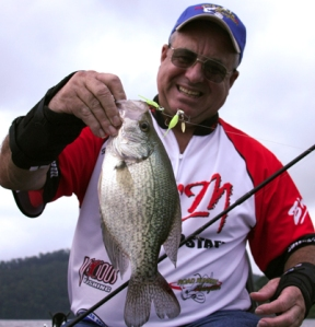 Gil Sipes with a Road Runner Buffet Crappie