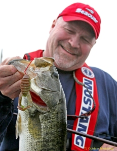 Todd with one of the many bass he caught and released.