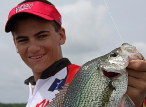 Braxton bags another crappie.