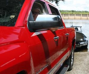 Captain Ron Presley tests the Silverado Truck.