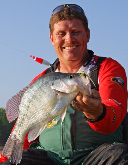 Steve Coleman using a float for crappie