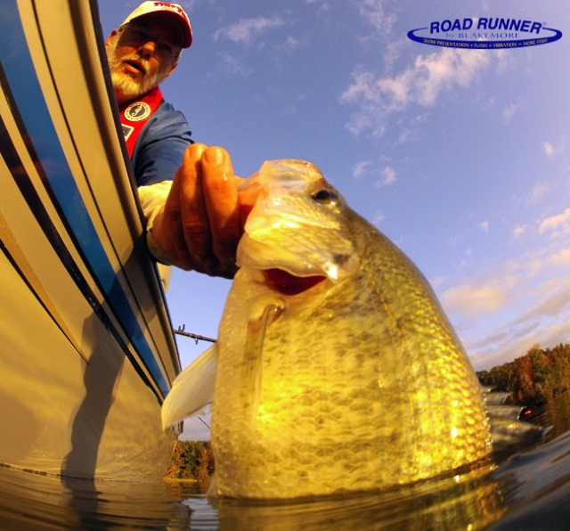 Ron releases another crappie.